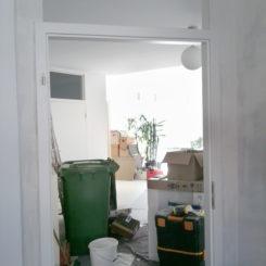 Küche, Türeinbau und Trockenbauwand